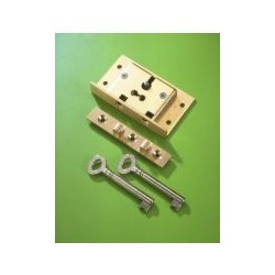 No.48 2 Lever Brass Box Lock
