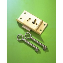 No.22c Brass Cut Cupboard Lock