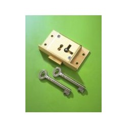 No.61 Brass Cut Cupboard Lock